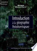 Introduction à la géographie historique
