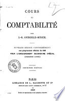 Cours de comptabilite par J.-G. Courcelle-Seneuil