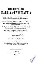 Bibliotheca magica et pneumatica