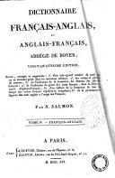 Book Dictionnaire francais-anglais et anglais-francais, abrege de Boyer. Tome I.er-[II]