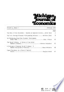 Michigan Journal of Economics