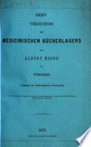 Verzeichniss des naturwissenschaftlichen Bücherlagers von Albert Moser in Tübingen
