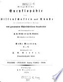 Erste Section A - G ; Fulcher - Fyzabad. Nachträge: Farel - Fuss