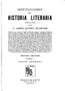 Instituciones de historia literaria