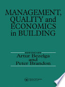Management  Quality and Economics in Building