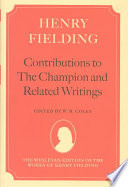 Contributions To The Champion And Related Writings