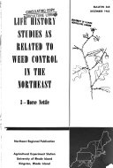 Life History Studies as Related to Weed Control in the Northeast