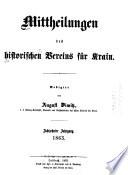 Mittheilungen des Historischen Vereines für Krain