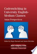 Codeswitching In University English Medium Classes