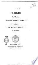 Elogio del marchese Giuseppe Stiozzi Ridolfi  scritto da Michele Leoni di Parma