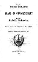 download ebook annual report of the board of school commissioners to the mayor and city council of baltimore for the fiscal year ending ... pdf epub