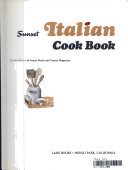 sunset italian cook book