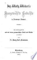 Ausgewählte Gedichte in Nürnberger Mundart