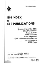 Index to IEEE Publications Book PDF