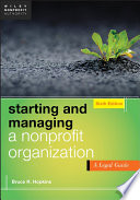 Starting and Managing a Nonprofit Organization