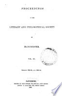 Proceedings of the Manchester Literary and Philosophical Society