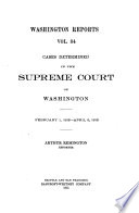 Cases Determined in the Supreme Court of Washington