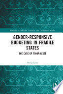 Gender Responsive Budgeting In Fragile States