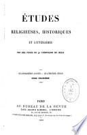 Etudes religieuses  historiques et litt  raires