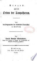 Prozess gegen den Orden der Tempelherren