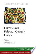 humanism in fifteenth century europe