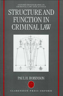 Structure and Function in Criminal Law