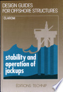 Stability and Operation of Jackups