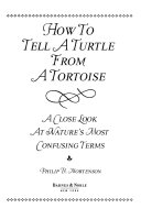 How to tell a turtle from a tortoise
