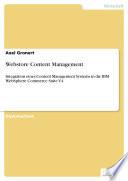 Webstore Content Management