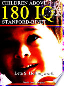 Children Above 180 IQ Stanford-Binet