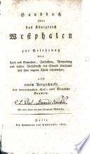 Handbuch über das Königreich Westphalen