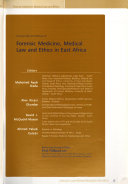 Concise Text And Manual Of Forensic Medicine, Medical Law, And Ethics In East Africa : ...
