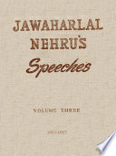 Jawaharlal Nehru's Speeches Vol. 3 (1953-1957)