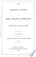 The Poetical Works of Felicia Hemans