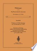 Sonderheft Professor em. Dr. Walter Dieminger Zum 70. Geburtstag Am 7.7.1977