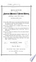 Bulletin Of The American Museum Of Natural History