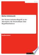 Der Konservatismus-Begriff in der Alternative für Deutschland. Eine Begriffsdefinition