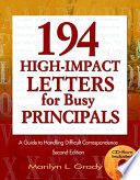 194 High Impact Letters For Busy Principals