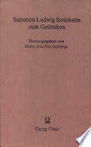 Salomon Ludwig Steinheim zum Gedenken