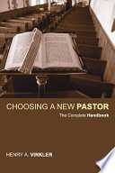Choosing a New Pastor