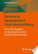 Steuerung im Übergangsbereich Schule-Berufsausbildung