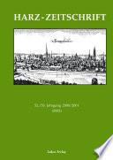 Harz-Zeitschrift 2000/01. 52./53. Jahrgang