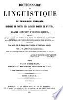 Encyclopédie théologique: Dictionnaire de linguistique et de philologie comparée