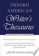 Oxford American Writer s Thesaurus