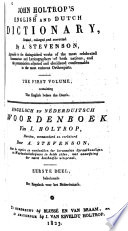 John Holtrop S English And Dutch Dictionary English Before The Dutch
