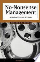 No-Nonsense Management Pdf/ePub eBook