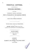 Original Letters Illustrative Of English History