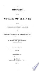 The History of the State of Maine Pdf/ePub eBook
