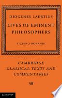 Diogenes Laertius  Lives of Eminent Philosophers
