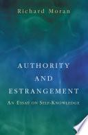 Authority And Estrangement book